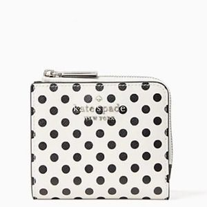 Kate Spade Polka Dot Small L-Zip Bifold Wallet NWT